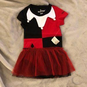 Harley Quinn Onesie with Tulle Skirt